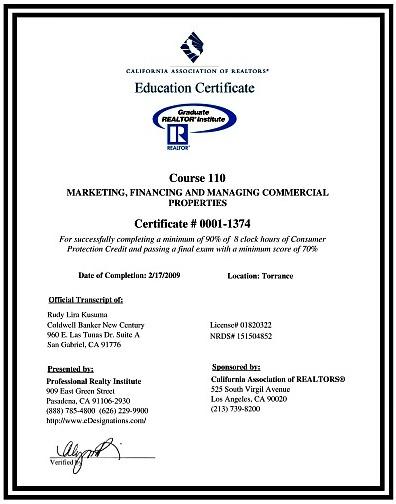 rudy lira kusuma graduate realtors institute