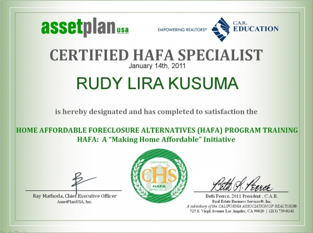rudy lira kusuma short sale expert