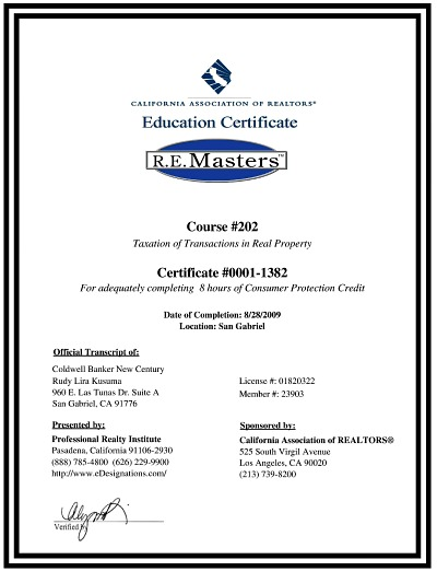 real estate masters designation